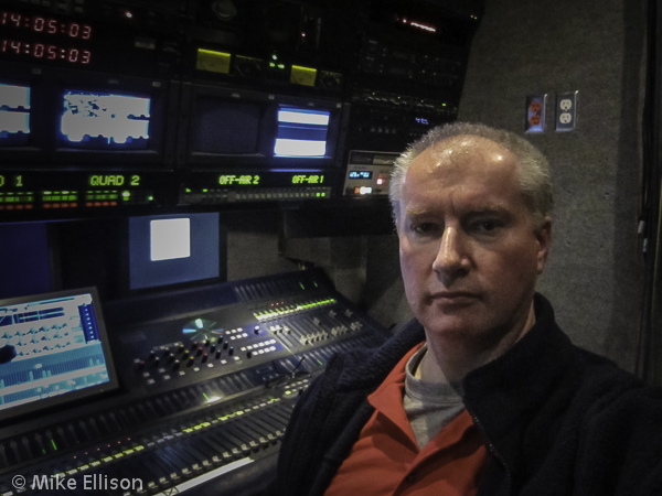 Sound room of the Rogers TV Delta truck